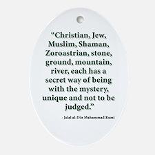 Rumi Religion Quote Ornament (Oval)