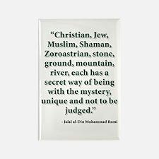 Rumi Religion Quote Rectangle Magnet