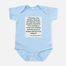 Rumi Religion Quote Infant Bodysuit