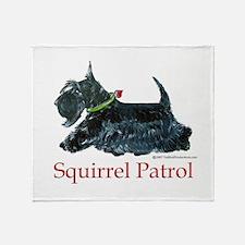 Scottie Squirrel Patrol Throw Blanket