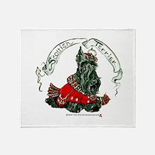 Scottish Terrier Celtic Dog Throw Blanket