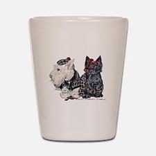 Scottish Highland Terriers Shot Glass