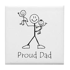 Proud Dad Tile Coaster