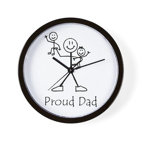 Proud Dad Wall Clock
