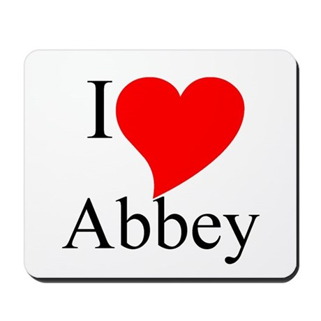I heart Abbey Mousepad