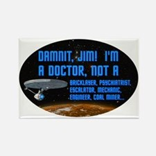 ST: Doctor Rectangle Magnet (10 pack)