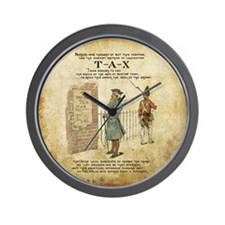 Vintage Boston tea party inde Wall Clock