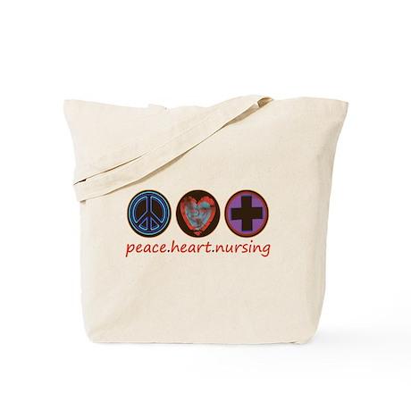 PEACE HEART NURSING Tote Bag