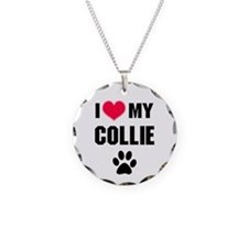 I Heart My Collie Necklace