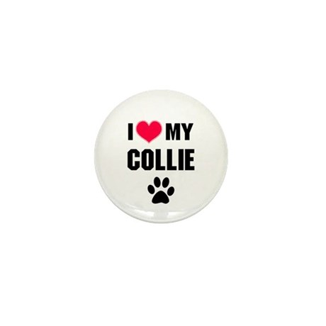 I Heart My Collie Mini Button