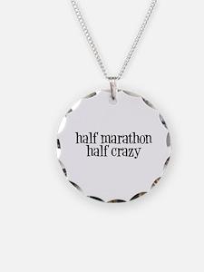 half marathon half crazy b Necklace