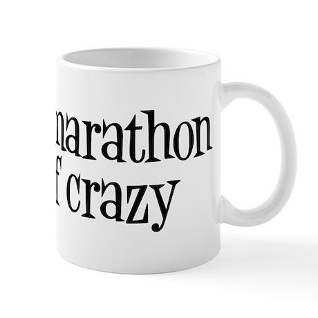 half marathon half crazy b Mug