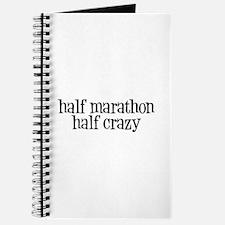 half marathon half crazy b Journal