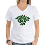Green Man Women's V-Neck T-Shirt