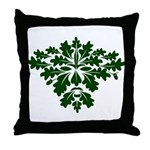 Green Man Throw Pillow