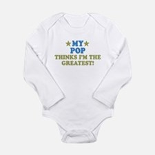 My Pop Long Sleeve Infant Bodysuit