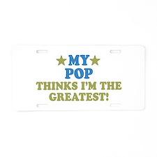 My Pop Aluminum License Plate