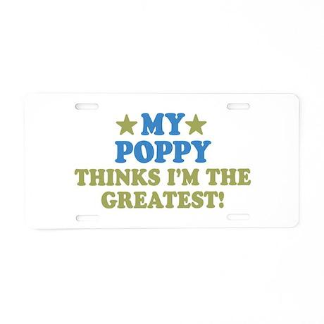 My Poppy Aluminum License Plate
