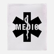 Medic EMS Star Of Life Throw Blanket