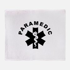 Paramedic Star Of Life Throw Blanket