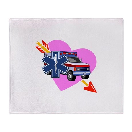 EMS Care Heart Throw Blanket