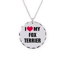 I Heart My Fox Terrier Necklace