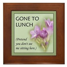 Gone to Lunch... Framed Tile