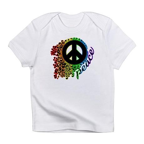 Rainbow Peace Swirl Infant T-Shirt
