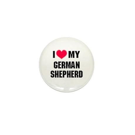 Heart My German Shepherd Mini Button