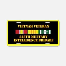 525th Military Intelligence Aluminum License Plate