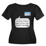 SNL: Van Women's Plus Size Scoop Neck Dark T-Shirt