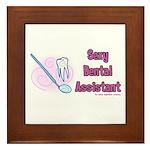Sexy Dental Assistant Framed Tile