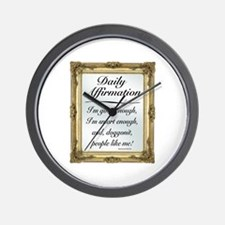 SNL: Affirmation Wall Clock