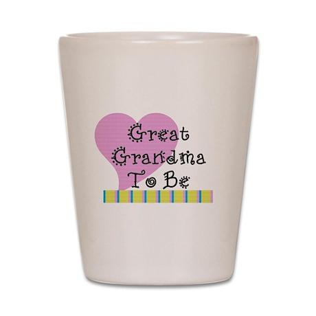 Great Grandma To Be Stripes Shot Glass