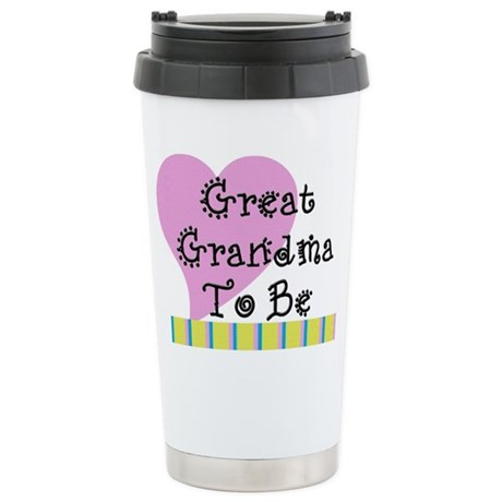 Great Grandma To Be Stripes Stainless Steel Travel