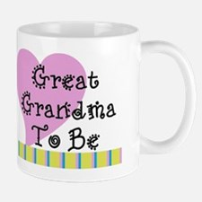 Great Grandma To Be Stripes Mug