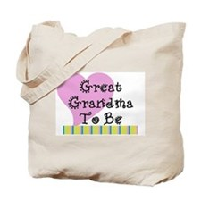 Great Grandma To Be Stripes Tote Bag