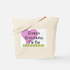 Great Grandma To Be Stripes Tote Bag