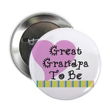 "Great Grandpa To Be Stripes 2.25"" Button"