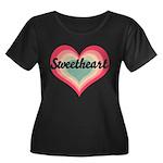 Sweetheart Women's Plus Size Scoop Neck Dark T-Shi