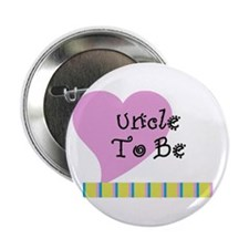 "Uncle To Be Stripes 2.25"" Button"