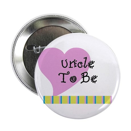 """Uncle To Be Stripes 2.25"""" Button"""