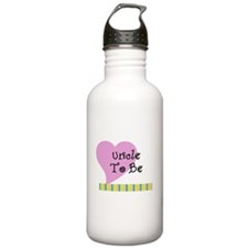 Uncle To Be Stripes Water Bottle
