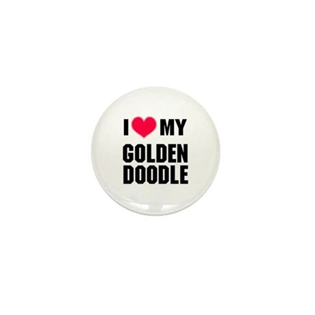 I Heart My Goldendoodle Mini Button