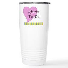 Aunt To Be Stripes Travel Mug