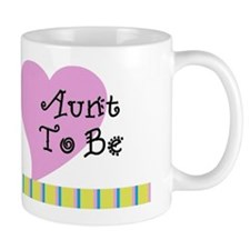 Aunt To Be Stripes Mug
