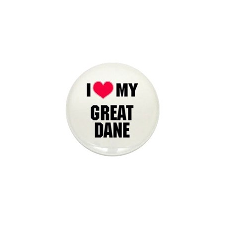 I Heart My Great Dane Mini Button