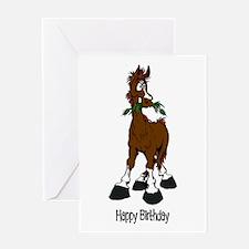 Unique Horse birthday Greeting Card