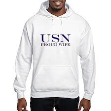 USN Proud Wife Hoodie
