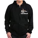 Saint Bernard Zip Hoodie (dark)